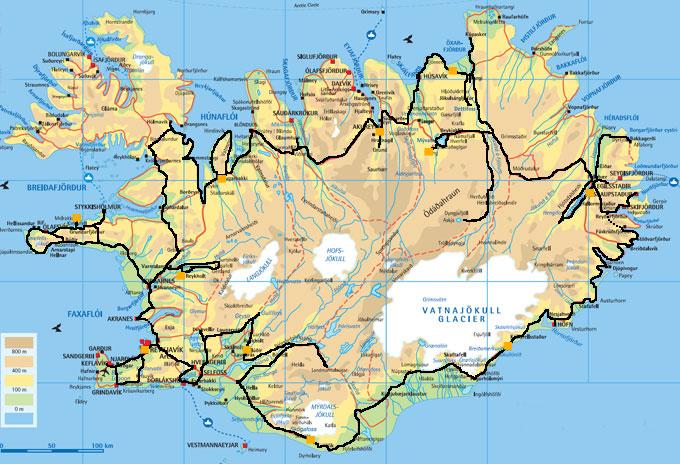 ruta per Islàndia