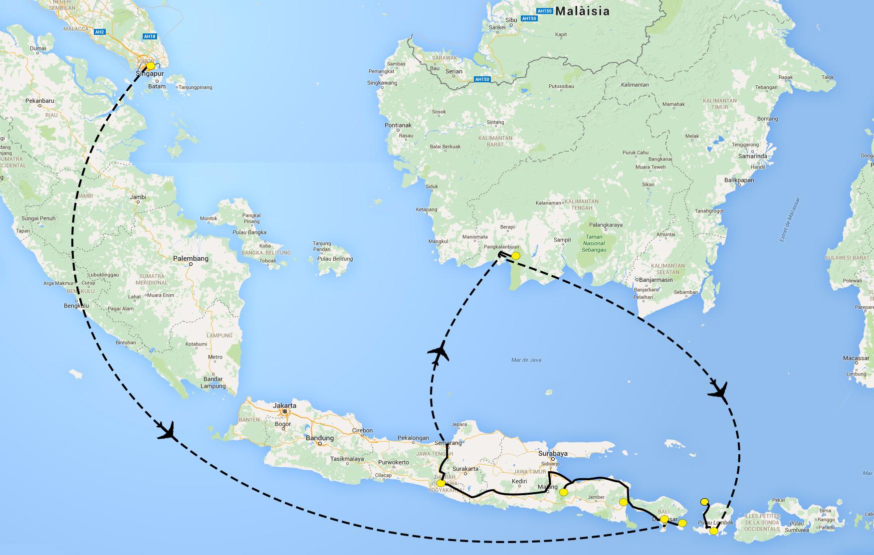 Mapa ruta Indonesia